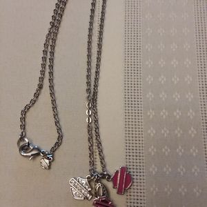harley davidson necklace w 3 charms